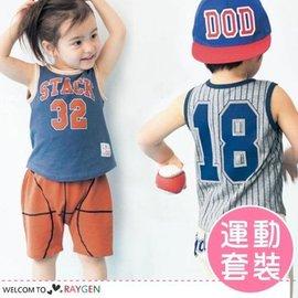 男童休閒運動籃球棒球足球套裝 背心+短褲【HH婦幼館】
