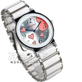 BETHOVEN 機芯 都會 數字腕錶 愛心陶瓷錶 女錶 BE3984粉白