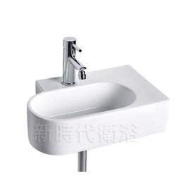 ^~ 新時代衛浴 ^~ 46^~30 方型壁掛臉盆,別致款式,極簡 5065L