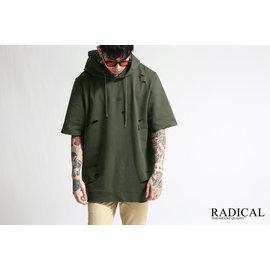 RADICAL 商店16 S S DESTRUCTION HOODY 破壞工藝短帽TEE