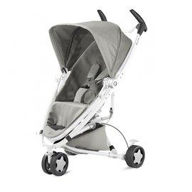 【紫貝殼】『GAA04-1+GCA01』Quinny ZAPP xtra2 Pure 嬰兒手推車【白管灰】+Maxi-Cosi Carbriofix提籃(隨機)