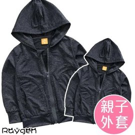 親子外套 夏季薄款外套 素色黑 90-150 XL-XXL【HH婦幼館】