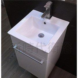 ^~ 新時代衛浴 ^~ 41^~40方形薄邊盆,臺北工廠訂製浴柜,小空間最 6075