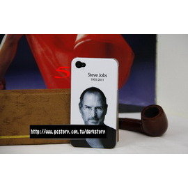 iphone 4S/4 手機套 jobs賈伯斯紀念款手機殼 外殼 保護套/保護殼-5 [ABO-00124]