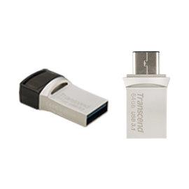 創見64GB JetFlash 890 USB3.1 OTG隨身碟產品 : TS64GJF
