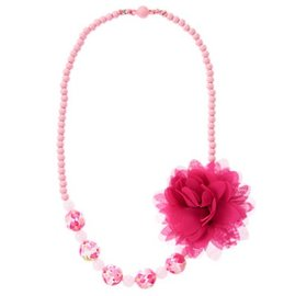 Gymboree 紫紅色花朵項鍊 Fuchsia Flower Necklace  ^#1