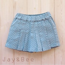 ~捷比 ~米雅星~JSD26634~ 心型印花圖案淺色一片式牛仔褲裙