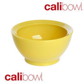 【紫貝殼】『DBA23-4』【美國 CaliBowl】專利防漏防滑幼兒學習碗(單入無蓋) 8oz -黃色【保證原廠公司貨】