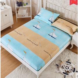 床笠棉質單件 棉質席夢思保護套120^~200cm床套床單床罩床墊套~韓風館~