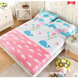 棉質席夢思保護套120^~200cm床套床單床罩床墊 海洋寶貝~韓風館~