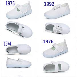 白色男女童學生幼兒園帆布鞋子小孩護士鞋懶人一腳蹬舞蹈鞋寶寶鞋~韓風館~