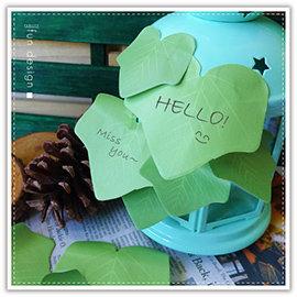 【Q禮品】B2963 韓系樹葉便利貼/森林系樹葉便條紙/葉子/標籤貼/MEMO/N次貼/留言本/書籤/客製化印字