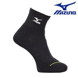 【美津濃MIZUNO】基本款男運動厚底短襪 32TX600191(黑X白)
