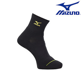 【美津濃MIZUNO】基本款男運動厚底短襪 32TX600193(黑X黃)