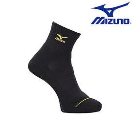 加大尺寸 大尺碼【美津濃MIZUNO】基本款男運動厚底短襪 32TX600293(黑X黃)