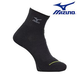 加大尺寸 大尺碼【美津濃MIZUNO】基本款男運動厚底短襪 32TX600297 (黑X灰)