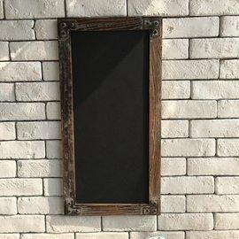 zakka酷雜貨 美式鄉村風仿舊色 壁掛式留言粉筆黑板 loft工業風復古 牆壁掛飾原木風