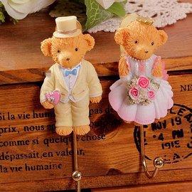 zakka酷雜貨 歐式鄉村風 可愛小熊擺飾吊掛收納掛勾 英倫風格Bear熊復古 裝飾置物吊