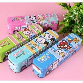 免 ~買窩^~兒童文具 開學用品系列~是文具車也是鉛筆盒3層鐵盒精緻便攜式收納盒袋 開學用