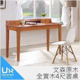 UR DESIGN 文森原木全實木4尺書桌^(I20 A466~01^)