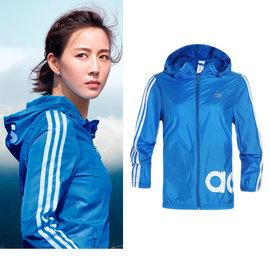 adidas EN LINEAR 3SWB 女子短版抗紫外線 防曬外套.風衣外套~AP58