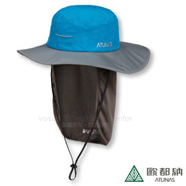 【歐都納 Atunas】GORE-TEX 防水透氣大盤帽.遮陽帽.牛仔帽.防曬帽.休閒帽/附可拆遮陽片/A-A1601 寶藍/灰