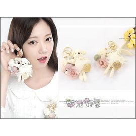 ^~ ^~ 魅力部屋 ^~ ^~ 可愛小熊兔子吊飾 鑰匙圈39286