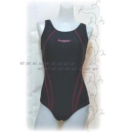 A&T^~ Honor^~~全排水線~~附胸墊~素面三角連身泳衣 1280~3803~M.