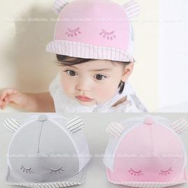 寶寶帽 瞇瞇眼球帽 軟沿鴨舌帽 網帽 防曬 BU1551 好娃娃