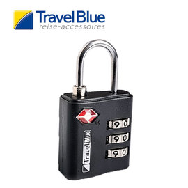 英國Travel Blue藍旅 TSALock美國海關三碼鎖 黑色 TB036A 露營│戶