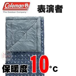 探險家戶外用品㊣CM-18459 美國Coleman 10度表演者睡袋 海軍灰 可機洗可雙拼 化纖睡袋 信封型露營寢袋 中空纖維棉