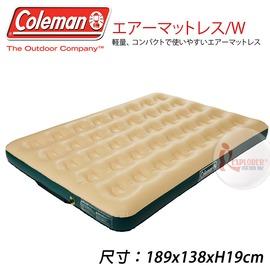 探險家戶外用品㊣CM-A6488 美國Coleman 舒適充氣床/W 189x138cm 雙人充氣床墊充氣墊 非自動充氣睡墊