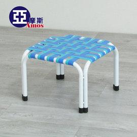 舒適涼感編織小方凳 涼椅 板凳 交叉彈性板帶 耐重提升便利耐用 堆疊收納 舒壓透氣 MIT