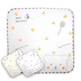 蜂蜜小熊紗布小方巾24*24cm(SG462K)