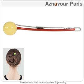 ~Aznavour~髮簪 鴨嘴夾~球狀 ^(Yellow^)