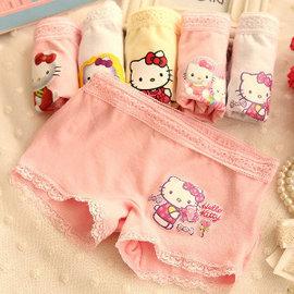 免 ~買窩^~精緻棉質 舒適透氣好穿女童內褲~一卡3入有3色一起帶回家簡單 女童棉質彈性內