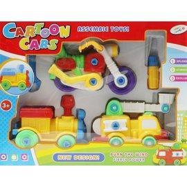 拆裝交通玩具^(外包裝污損^)