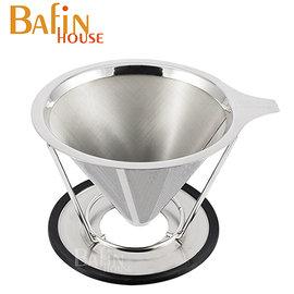 ~Bafin House~雙層極細 304不鏽鋼咖啡濾網^(4人份^)