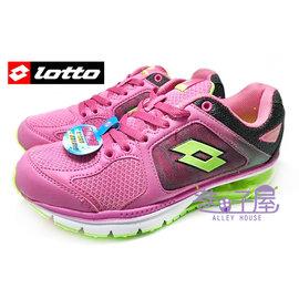 ~巷子屋~義大利第一品牌~LOTTO樂得 女款雙重避震炫彩氣墊 慢跑鞋 ^~2177^~