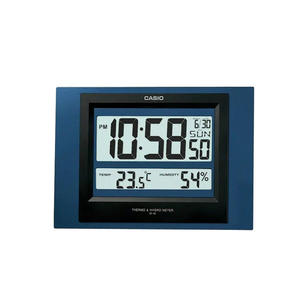 CASIO 卡西歐 ID~16S 溫溼度電子掛鐘  個 ^(顏色 出貨^)