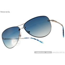 Tiffany  CO.太陽眼鏡 TF3039B 60514L ^(銀~藍^)  典藏飛官