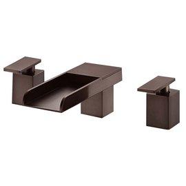 ^~新時代衛浴^~  浴缸上龍頭,流暢線條 稀有古銅色,瀑布式出水BRO3~2558~A