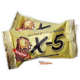 【吉嘉食品】韓國X-5迷你花生巧克力捲/小條/脆心花生巧克力捲心酥 1條20公克16元,另售哦吉-花生捲心酥{8809260944633:1}