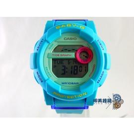 ~明美鐘錶~ CASIO 卡西歐 Baby~G 亮眼衝浪滑板極限 概念 女錶^(土耳其藍^