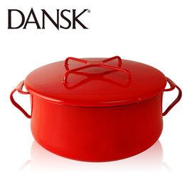 ~丹麥DANSK~琺瑯雙耳湯鍋18.5CM^(尊貴紅^)DK834300