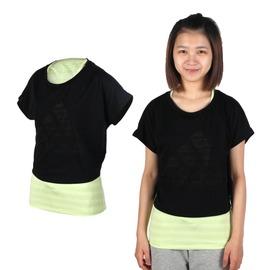 ADIDAS 女兩件式短袖上衣(背心 短袖T恤 愛迪達 慢跑 路跑【03312367】≡排汗專家≡