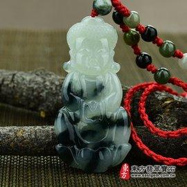 釋迦牟尼佛祖A貨翡翠花件玉墜 細糯飄花淡綠色 FD013~產地 翡翠,可訂做各種吊墜, 玉