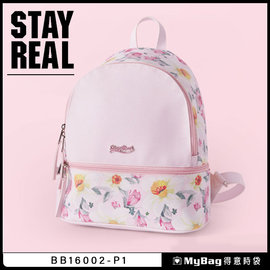 STAYREAL 後背包  戀戀花園後背包 BB16002 粉紅色  MyBag得意時袋