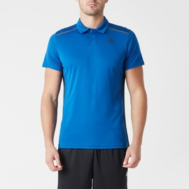 ADIDAS  climacool系列 男款POLO衫-藍 AJ5515