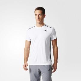 ADIDAS  climacool系列 男款圓領排汗衫-白 AJ5505